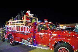Santa on the Caroling Truck